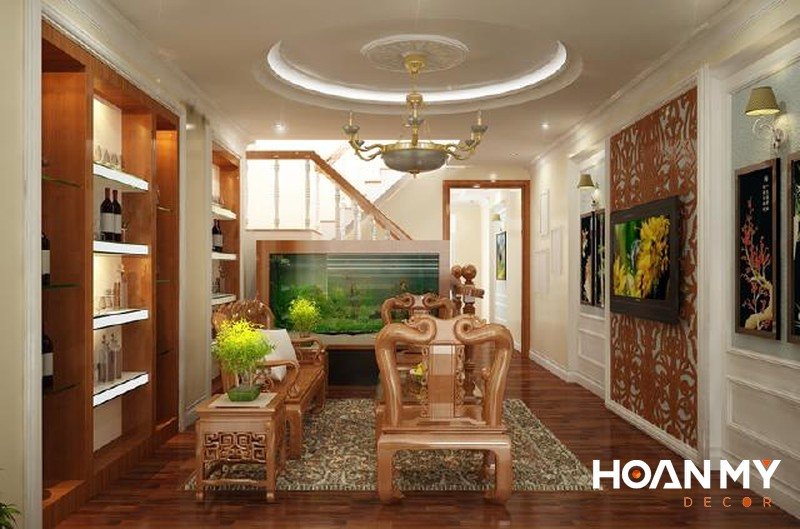 Bể cá trang trí phòng khách