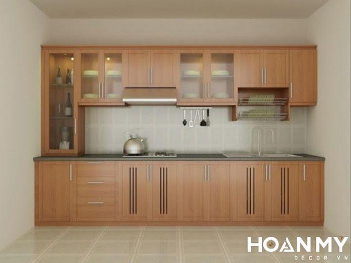 Tủ bếp nhà nhỏ