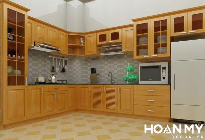 Trang trí phòng bếp nhà cấp 4