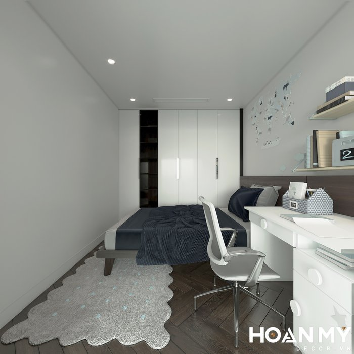 Thiết kế Phòng ngủ cho con trai lớn đơn giản hiện đại