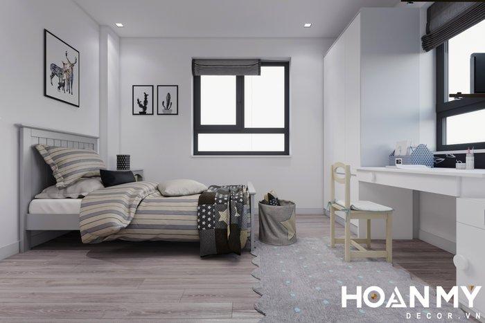 Phòng ngủ được thiết kế theo hơi hướng Scandinavian