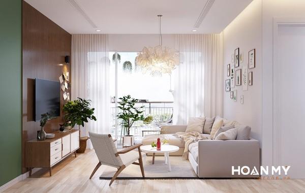Sofa kết hợp nỉ và khung gỗ sồi chắc chắn