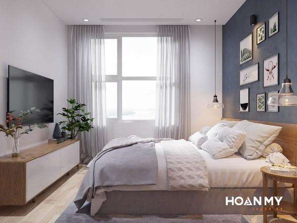 Phòng ngủ gỗ sồi nhẹ nhàng đẹp