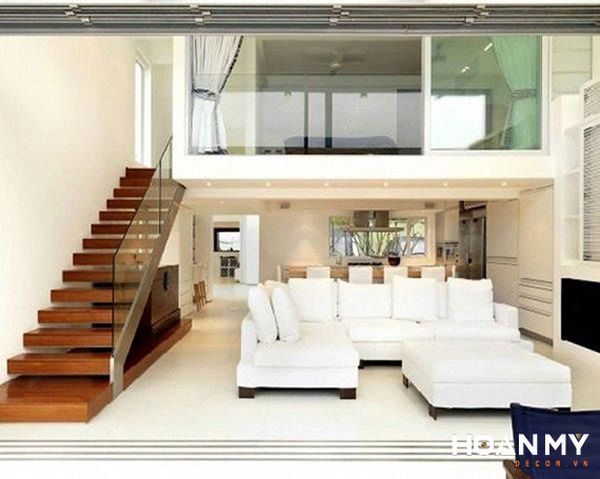 Phòng khách có cầu thang gác lửng - Hình ảnh 4