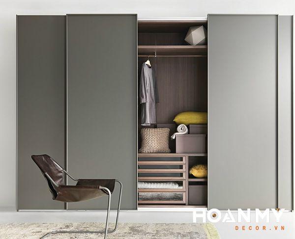 Tủ quần áo 4 cánh theo kiểu Hàn Quốc âm tường tiết kiệm không gian nhà bạn.