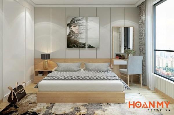 Giường làm bằng gỗ MDF