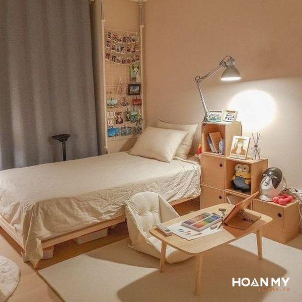 Decor phòng ngủ nhỏ vintage - Mẫu 1