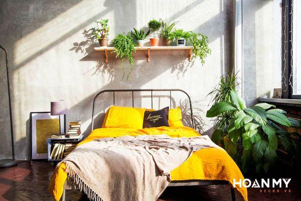 Decor phòng ngủ nhỏ vintage - Mẫu 4