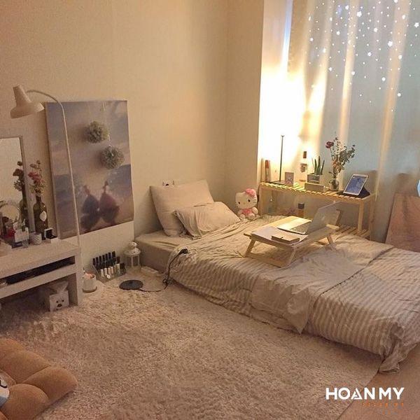 Phòng ngủ Vintage theo kiểu Hàn Quốc - Mẫu 1