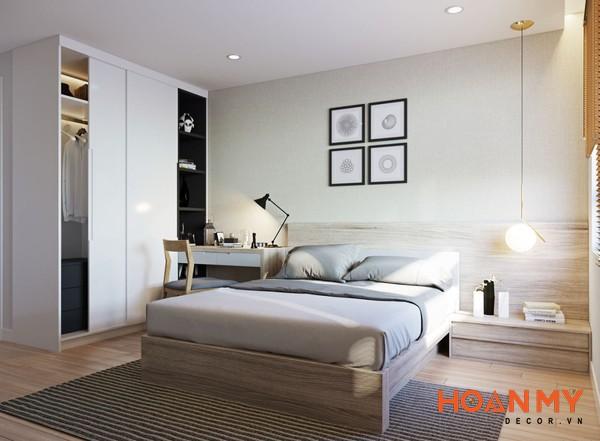 Giường gỗ công nghiệp 2m x 2m2 - Mẫu 11