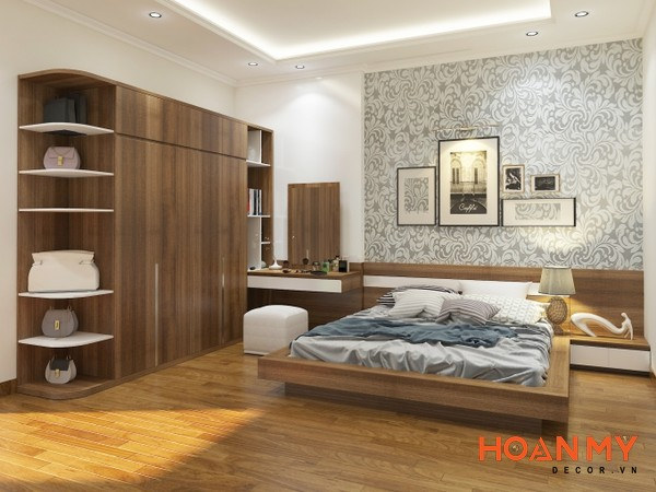 Giường gỗ công nghiệp 2m x 2m2 - Mẫu 3