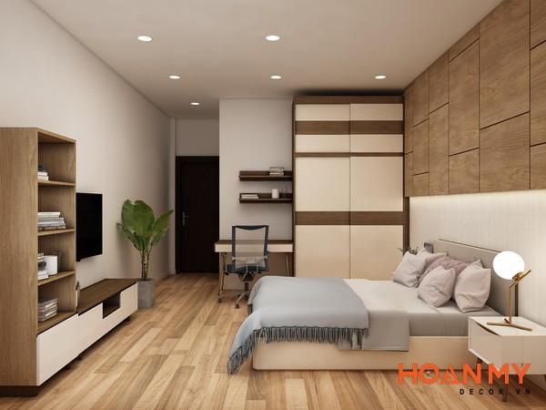 Giường gỗ công nghiệp 2m x 2m2 - Mẫu 4