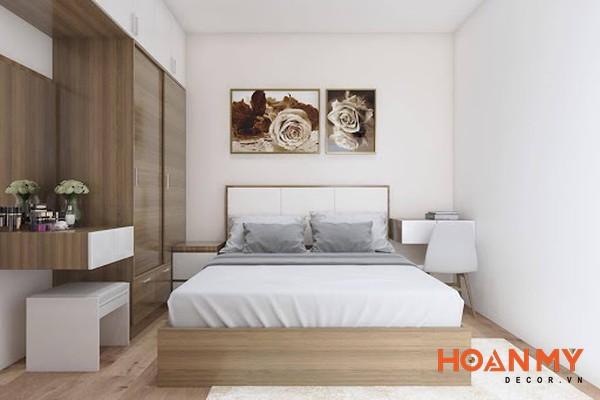 Giường gỗ công nghiệp 2m x 2m2 - Mẫu 6
