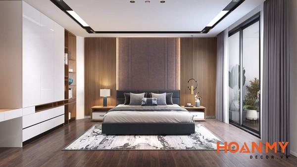 Giường gỗ công nghiệp 2m x 2m2 - Mẫu 9