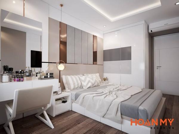 Giường gỗ công nghiệp 2m x 2m2 - Mẫu 10