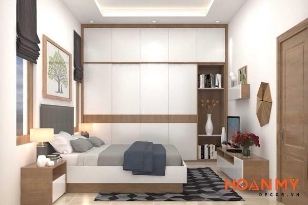 Giường gỗ công nghiệp 2m x 2m2 - Mẫu 1