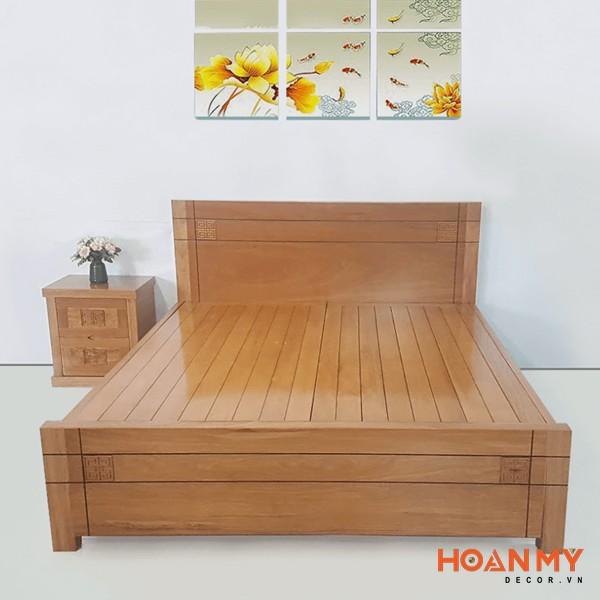 Giường gỗ công xoan đào 2m x 2m2 - Hình ảnh 2
