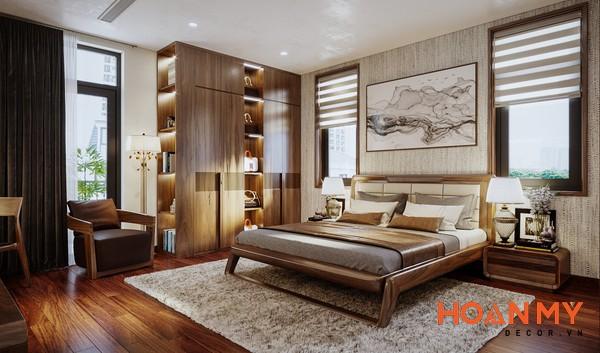 Giường gỗ óc chó 2m x 2m2 - Hình ảnh 2