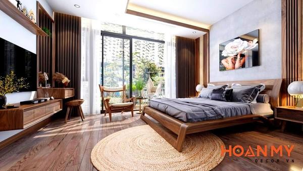 Giường gỗ óc chó 2m x 2m2 - Hình ảnh 11