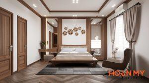 Giường gỗ óc chó 2m x 2m2 - Hình ảnh 12