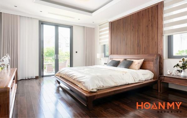Giường gỗ óc chó 2m x 2m2 - Hình ảnh 13