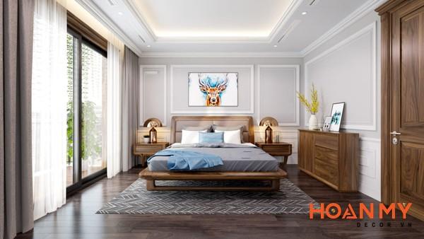 Giường gỗ óc chó 2m x 2m2 - Hình ảnh 15