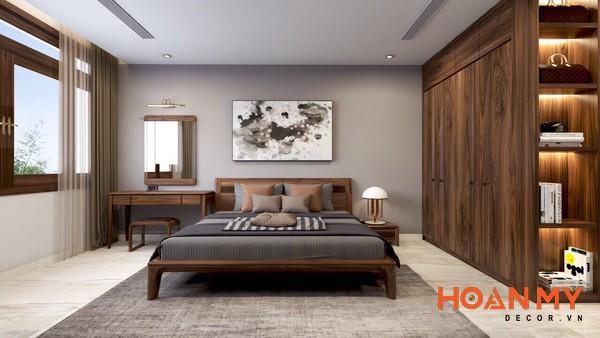 Giường gỗ óc chó 2m x 2m2 - Hình ảnh 5