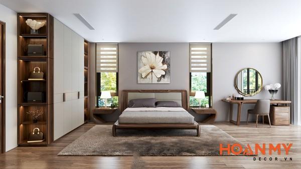 Giường gỗ óc chó 2m x 2m2 - Hình ảnh 6