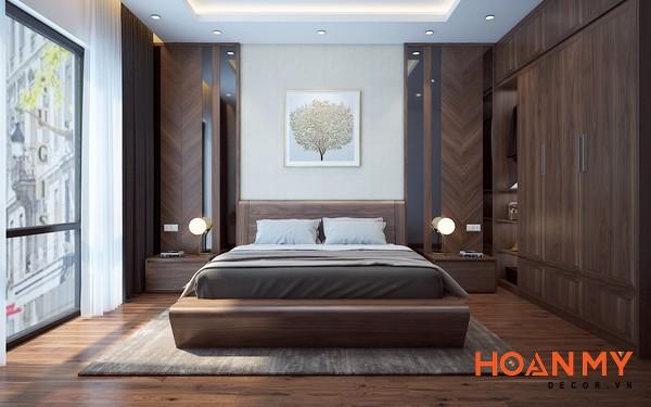 Giường gỗ óc chó 2m x 2m2 - Hình ảnh 7