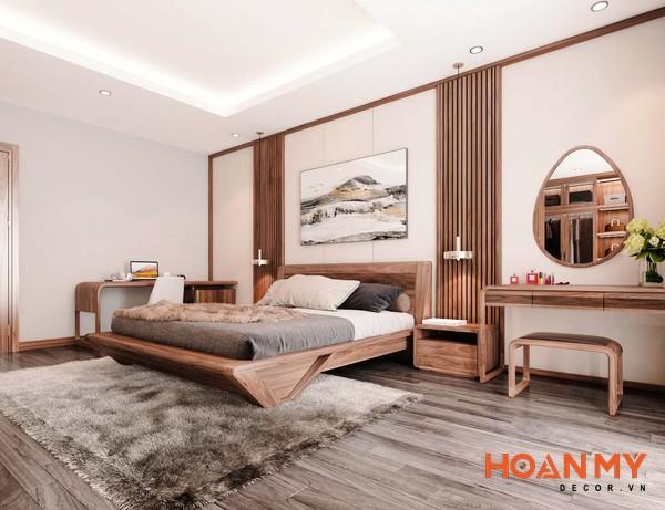 Giường gỗ óc chó 2m x 2m2 - Hình ảnh 9