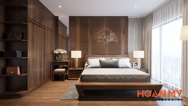 Giường gỗ óc chó 2m x 2m2 - Hình ảnh 1