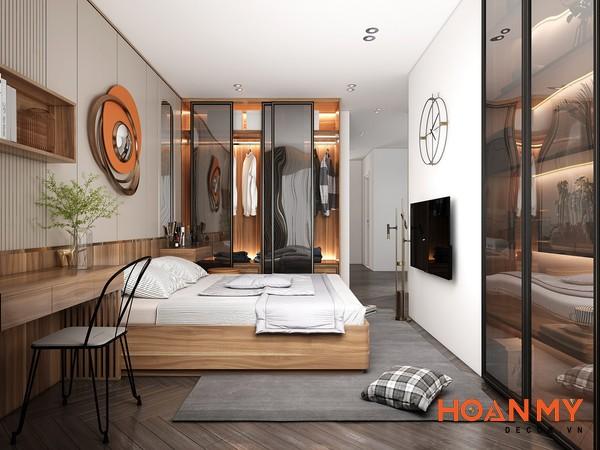 Giường gỗ sồi 2m x 2m2 - Mẫu 1