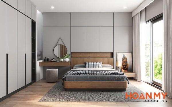 Giường gỗ sồi 2m x 2m2 - Mẫu 10