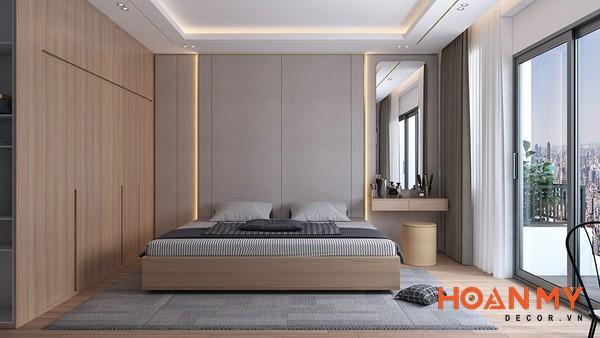 Giường gỗ sồi 2m x 2m2 - Mẫu 3
