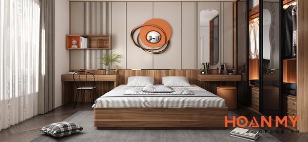 Giường gỗ sồi 2m x 2m2 - Mẫu 4