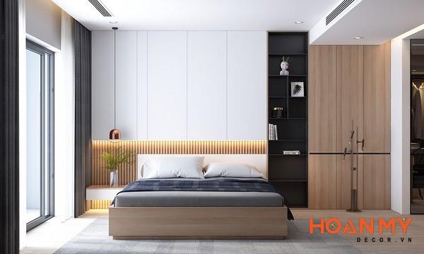 Giường gỗ sồi 2m x 2m2 - Mẫu 5