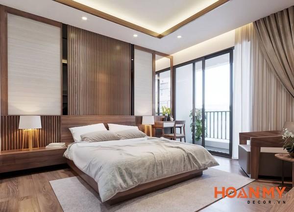 Giường gỗ sồi 2m x 2m2 - Mẫu 7
