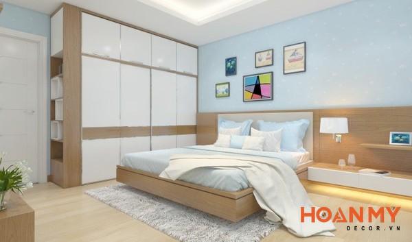 Giường gỗ sồi 2m x 2m2 - Mẫu 12