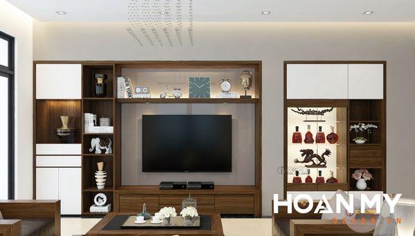 Kệ tivi kết hợp tủ rượu gỗ công nghiệp đa dạng mẫu mã