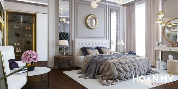 Mẫu phòng ngủ tân cổ điển cho cặp vợ chồng - Hình ảnh 3