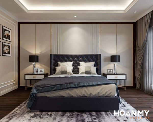 Mẫu phòng ngủ Master tân cổ điển cho nam gia chủ - Hình ảnh 5