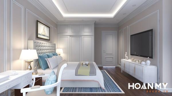 Mẫu phòng ngủ Master tân cổ điển cho nam gia chủ - Hình ảnh 1