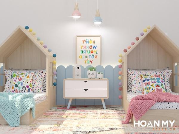 Phòng ngủ chung cho bé trai và bé gái