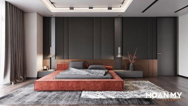 Phòng ngủ màu đen hiện đại