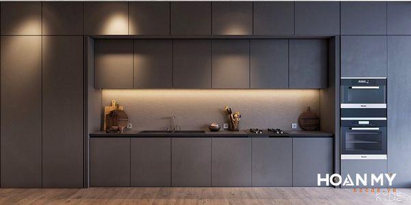 Tủ bếp âm tường tinh tế