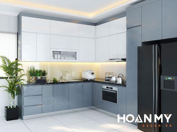 Tủ bếp màu ghi xám - Hình ảnh 14