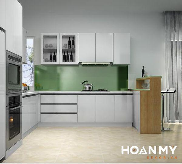 Tủ bếp màu ghi xám - Hình ảnh 15