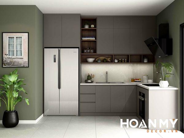 Tủ bếp màu ghi xám - Hình ảnh 19