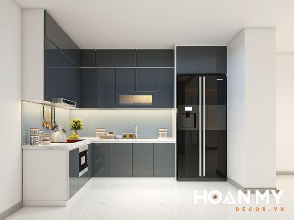 Tủ bếp màu ghi xám - Hình ảnh 20