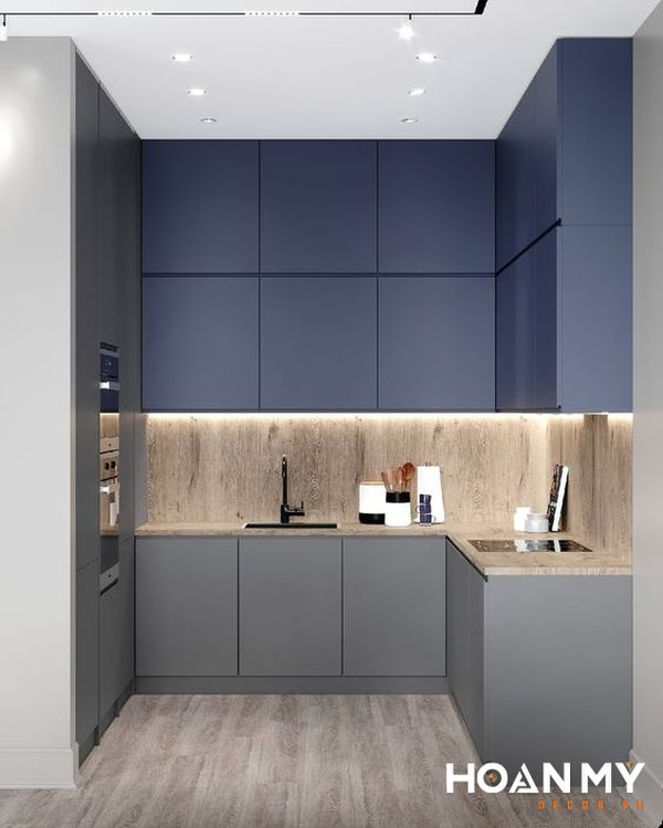 Tủ bếp màu ghi xám - Hình ảnh 21